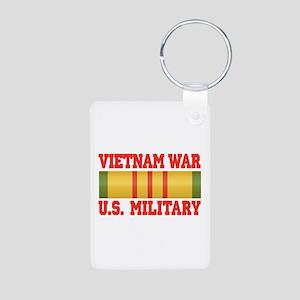 Vietnam War Aluminum Photo Keychain