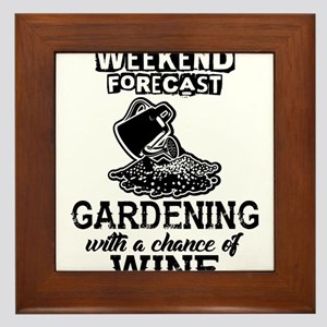 Gardening With a Chance of Wine Framed Tile