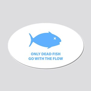 Go With The Flow 22x14 Oval Wall Peel