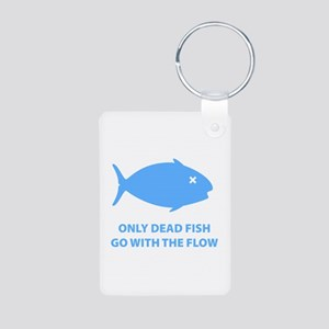 Go With The Flow Aluminum Photo Keychain