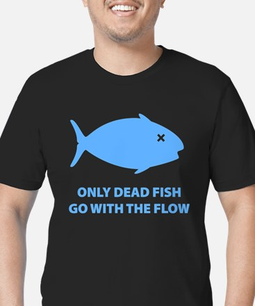 Go With The Flow Men's Fitted T-Shirt (dark)