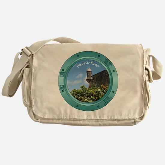 Puerto Rico Porthole Messenger Bag
