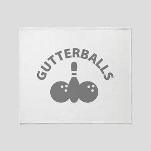 Gutterballs Throw Blanket