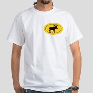 Moose Silhouette White T-Shirt