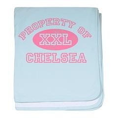Property of Chelsea baby blanket