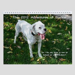 Bianca, the White Boxer Wall Calendar