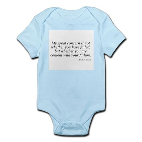 Abraham Lincoln quote 73 Infant Creeper