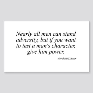 Abraham Lincoln quote 74 Rectangle Sticker