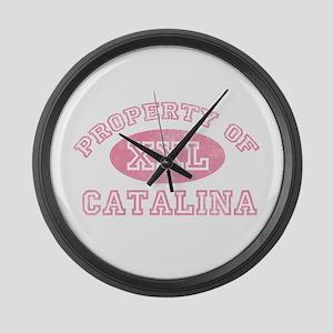 Property of Catalina Large Wall Clock