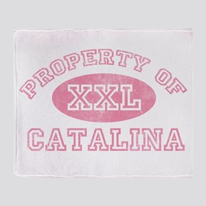 Property of Catalina Throw Blanket
