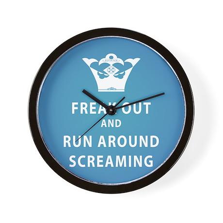 Freak Out & Run Around Screaming Wall Clock