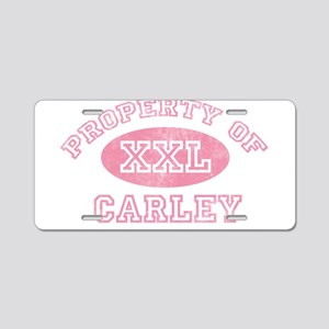 Property of Carley Aluminum License Plate