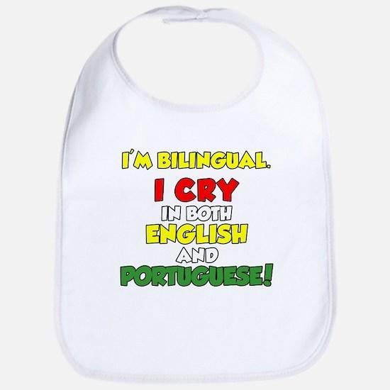 I'm Bilingual Cry Portuguese Bib