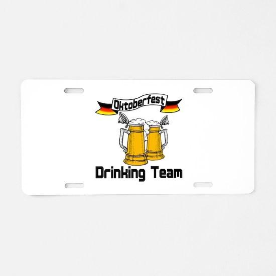 Oktoberfest Drinking Team Aluminum License Plate