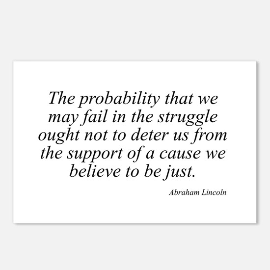 Abraham Lincoln quote 98 Postcards (Package of 8)