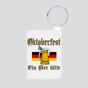 A Beer Please Aluminum Photo Keychain