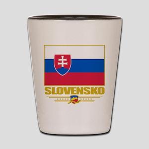 Slovak Republic Flag Shot Glass