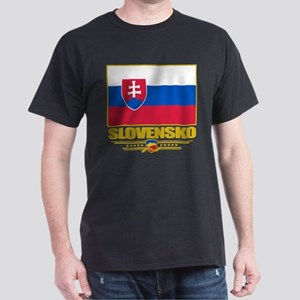 Slovak Republic Flag Dark T-Shirt