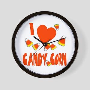 I love candy corn Wall Clock