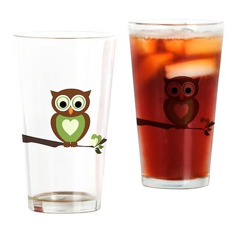 Owl 1 Drinking Glass