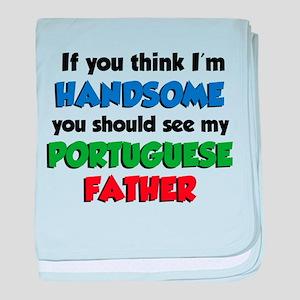 Think I'm Handsome Portuguese baby blanket