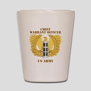 Army - Emblem - Warrant Officer CW3 Shot Glass
