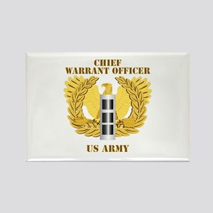 Army - Emblem - Warrant Officer CW3 Rectangle Magn