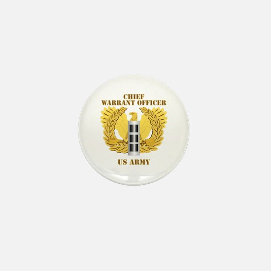 Army - Emblem - Warrant Officer CW3 Mini Button