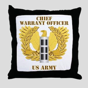 Army - Emblem - Warrant Officer CW3 Throw Pillow