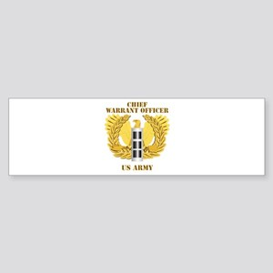Army - Emblem - Warrant Officer CW3 Sticker (Bumpe