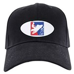 Red White Snowmobile Black Cap with Patch
