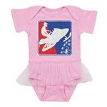 Red White Snowmobile Baby Tutu Bodysuit