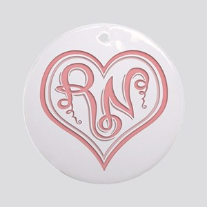 Rn Heart -617 Round Ornament