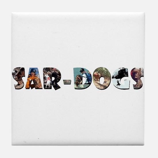 SAR-Dogs Logo Tile Coaster