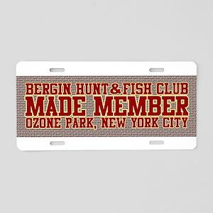 BH&FC Aluminum License Plate