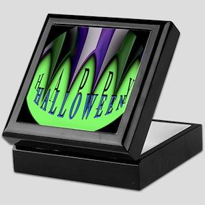 Green Halloween Stripes Keepsake Box