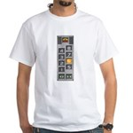 elevator buttons White T-Shirt