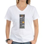 elevator buttons Women's V-Neck T-Shirt