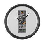 elevator buttons Large Wall Clock