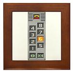 elevator buttons Framed Tile