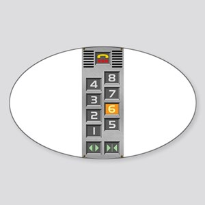 elevator buttons Sticker (Oval)