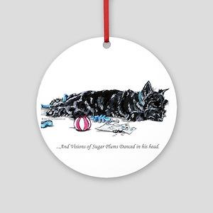 Scottish Terrier Puppy Vision Ornament (Round)