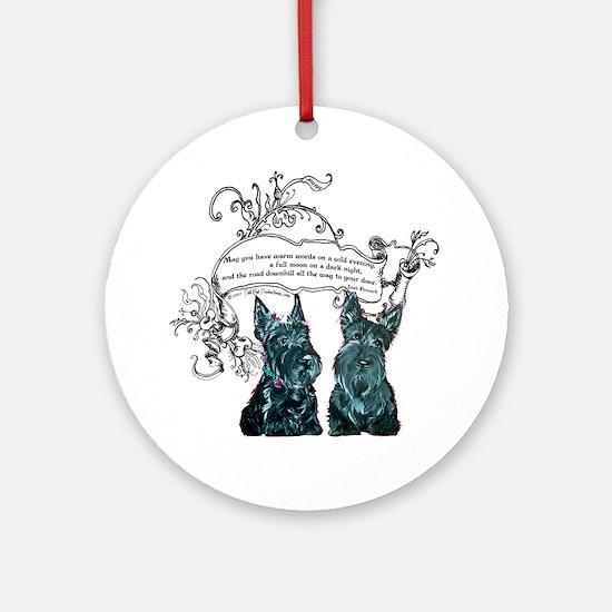 Scottish Terrier Proverb Ornament (Round)