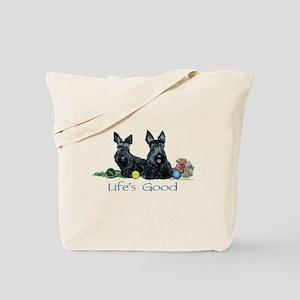 Life is Good - Scotties Tote Bag