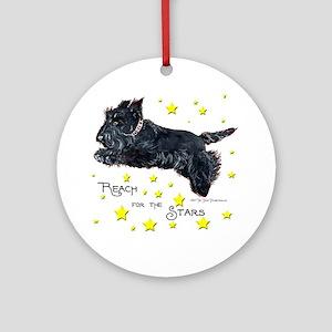 Scottish Terrier Star Ornament (Round)