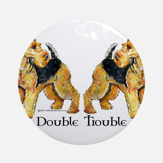Airedale Terrier Trouble Ornament (Round)