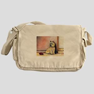 Cairn Terrier Painting Messenger Bag