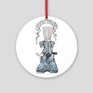 Cesky Terrier Chef Ornament (Round)