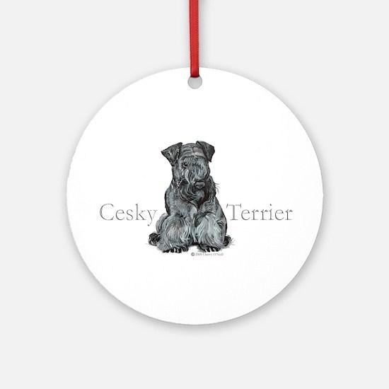 Cesky Terrier Ornament (Round)