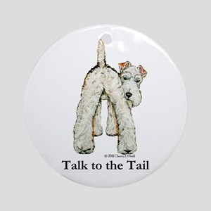 Wire Fox Terrier Tail WFT Ornament (Round)